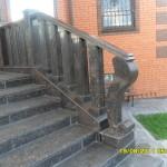 Частный дом, лестница из гранита Тан Браун