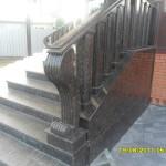 Частный дом, лестница из гранита Тан Браун1