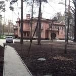п.Салтыковка, частный дом. Гранит Тэн Браун